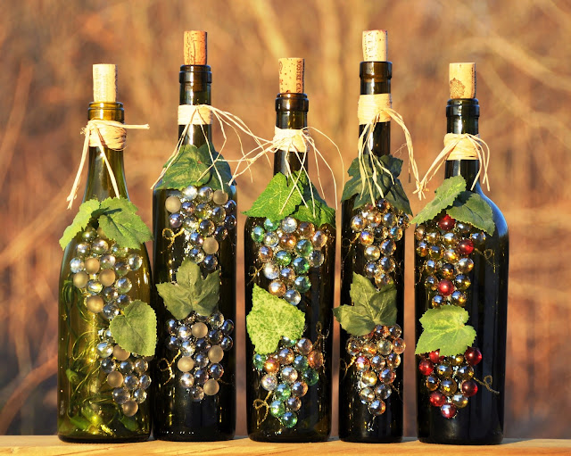 wine bottle recycle craft project