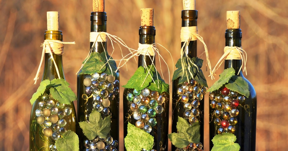 wine bottle recycle craft project art craft projects