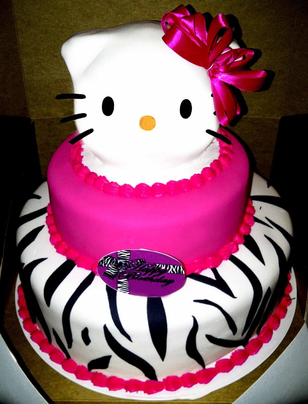 Hectors Custom Cakes 3 Tiered Hello Kitty Cake