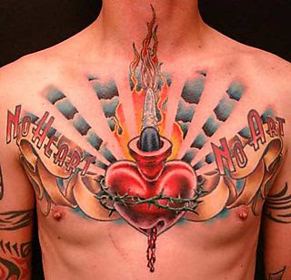 Wide Chest Tattoo