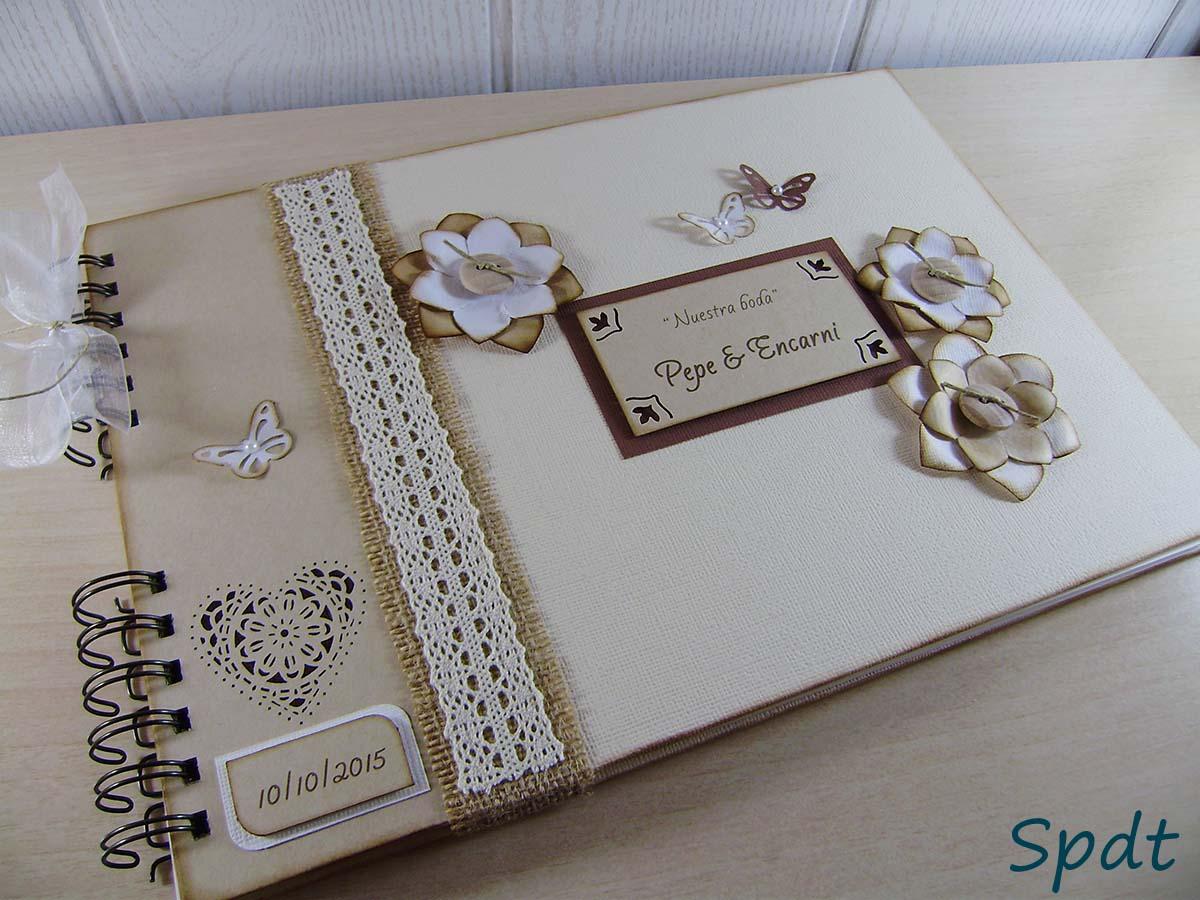 Libro de firmas r stico para boda sin parar de trastear for Interior libro de firmas comunion