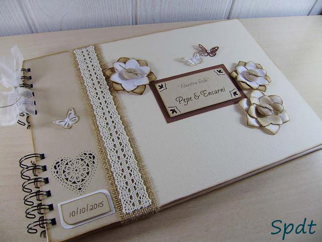 libro firmas rustico vintage
