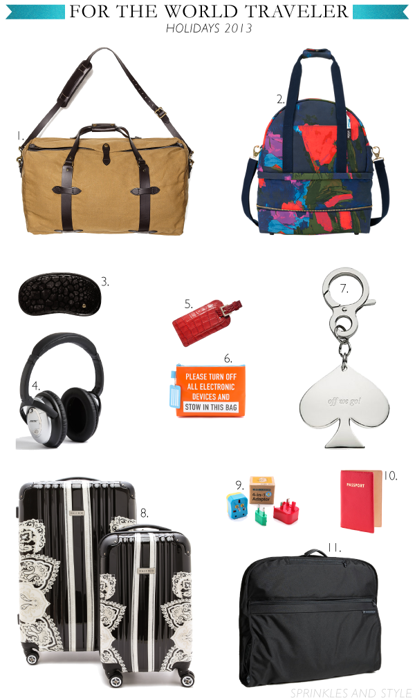 Sprinkles and Style || Holiday Gift Guide: For the Traveler