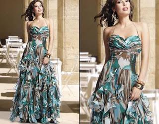 vestido longo com saia em camadas - dicas e fotos