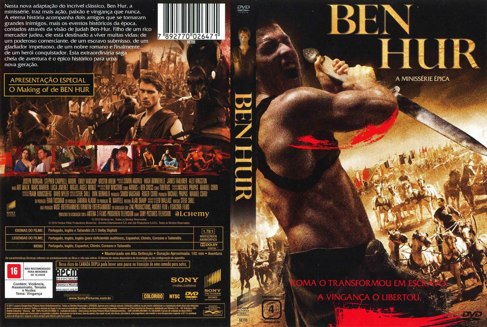 capas e labels de filmes e series  ben hur