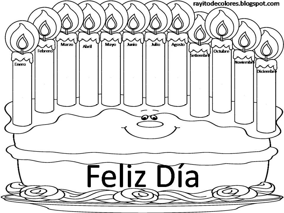 Vistoso Feliz Cumpleaños Para Colorear Imprimible Friso - Dibujos ...