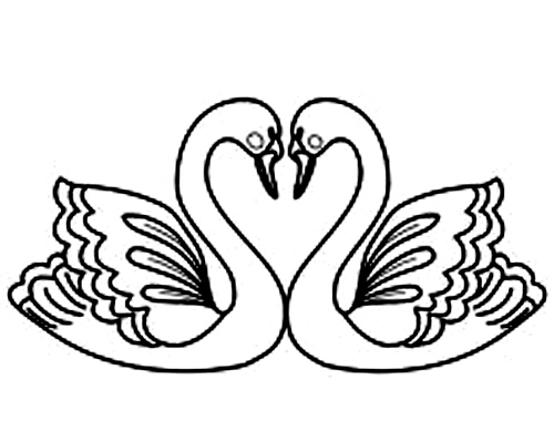 free swan coloring pages - photo#28