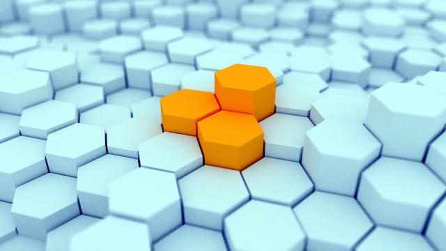 Hexagons 3D hard disk drive Wallpaper Super Hd 3D Wallpaper