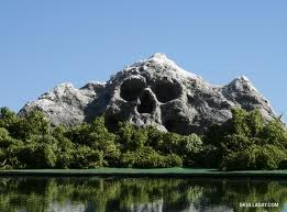 skull shaped hill illusion