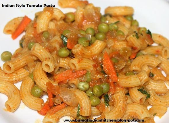 indian style tomato pasta