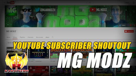 YouTube Subscriber Shoutouts ★ MG MODZ