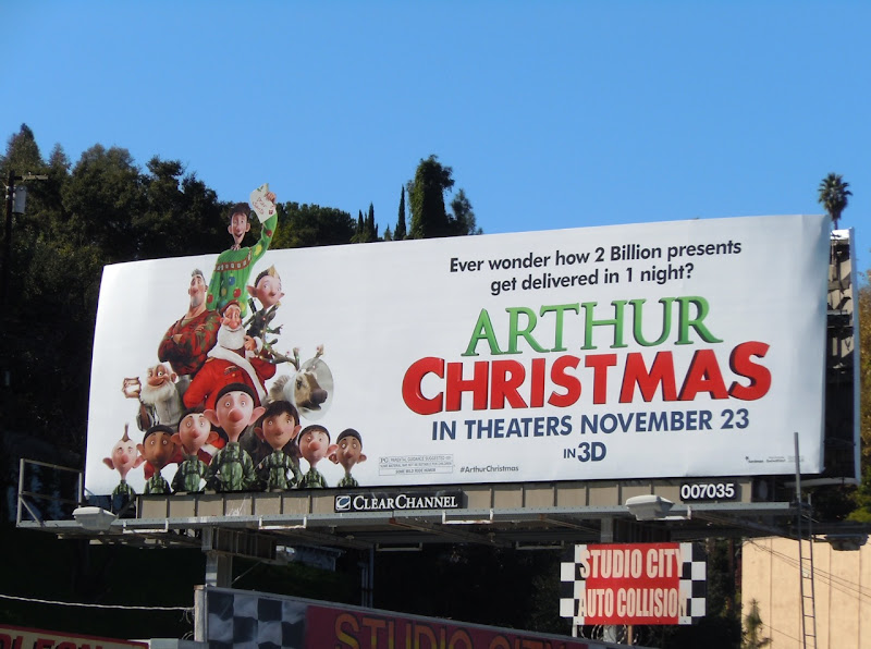 Arthur Christmas movie billboard