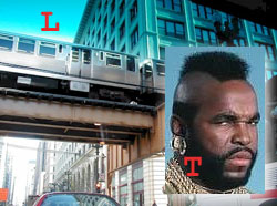 You see the elevated train is called the 'El'.