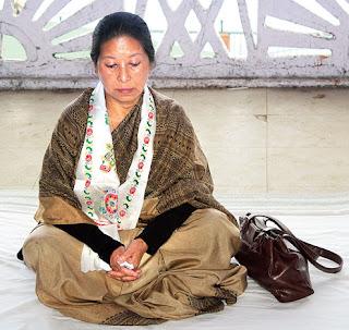 Bharati Tamang starts hunger strike at Chowrasta
