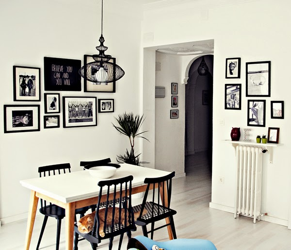 Little * Haus Magazine: Ideas: Decorando las paredes con cuadros
