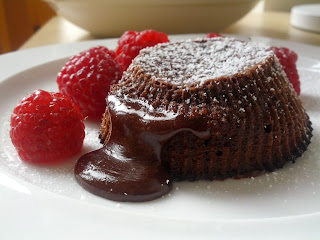 chocolate fondant, chocolate brownie