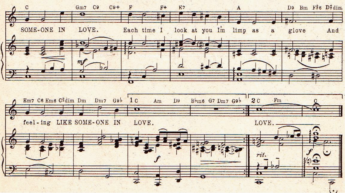Peter Spitzer Music Blog: Like Someone in Love - Part 2 (The chord ...