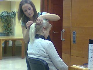 Demostración de peluqueria Club Social Caprabo Diciembre 2012