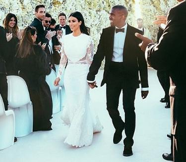 Kim kardashian waktu nikah