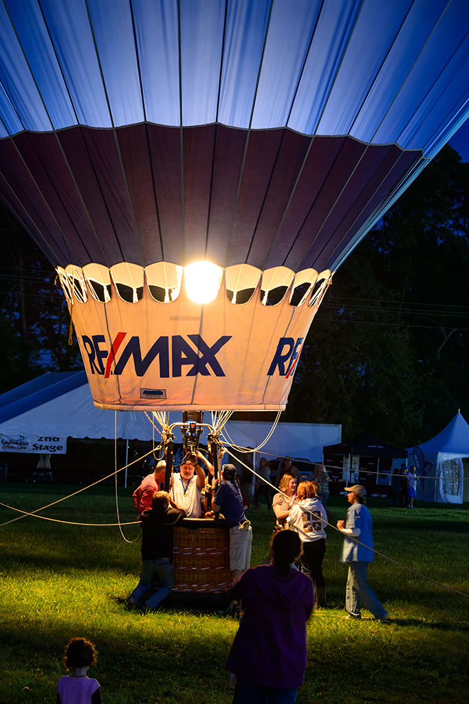ReMax Balloon at Night