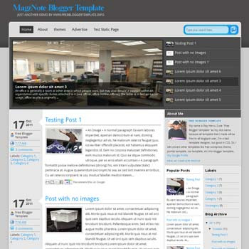 MagzNote blogger template. 3 column blogspot template. download free blogger template
