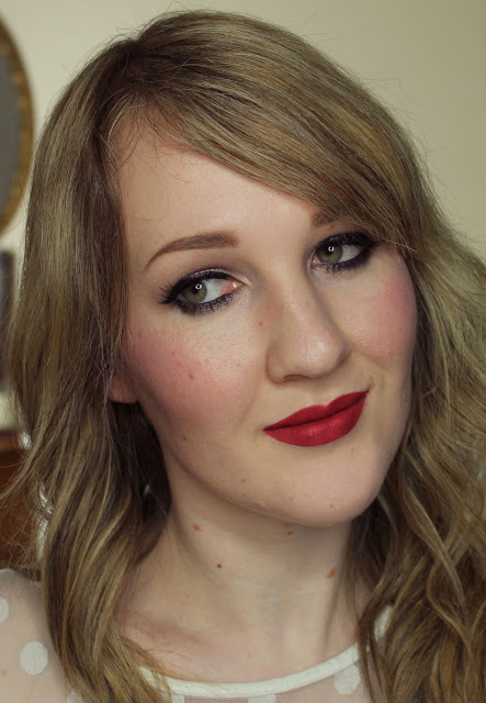 Darling Girl Pucker Paint Matte Lip Cream - Drop Dead Red lipstick swatches & review