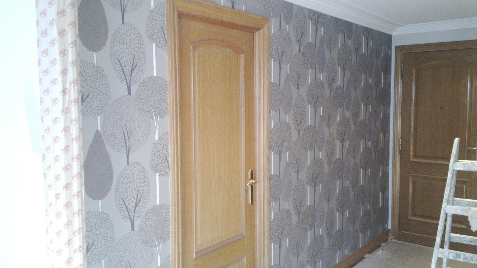Pinturas aguado s l papel pintado entrada piso amara for Papel pintado entrada
