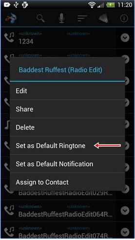 Rubah ringtone dengan MP3 di Android