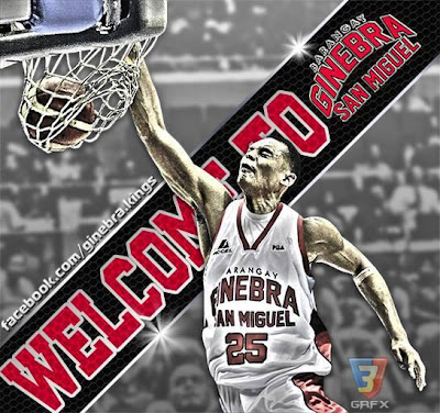 PBA Fan Art: Ginebra fans welcome Japeth Aguilar. GRAPHICS: