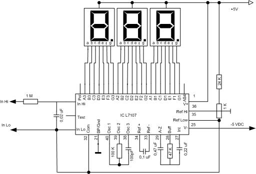 make seven segment display driver with ic l7107