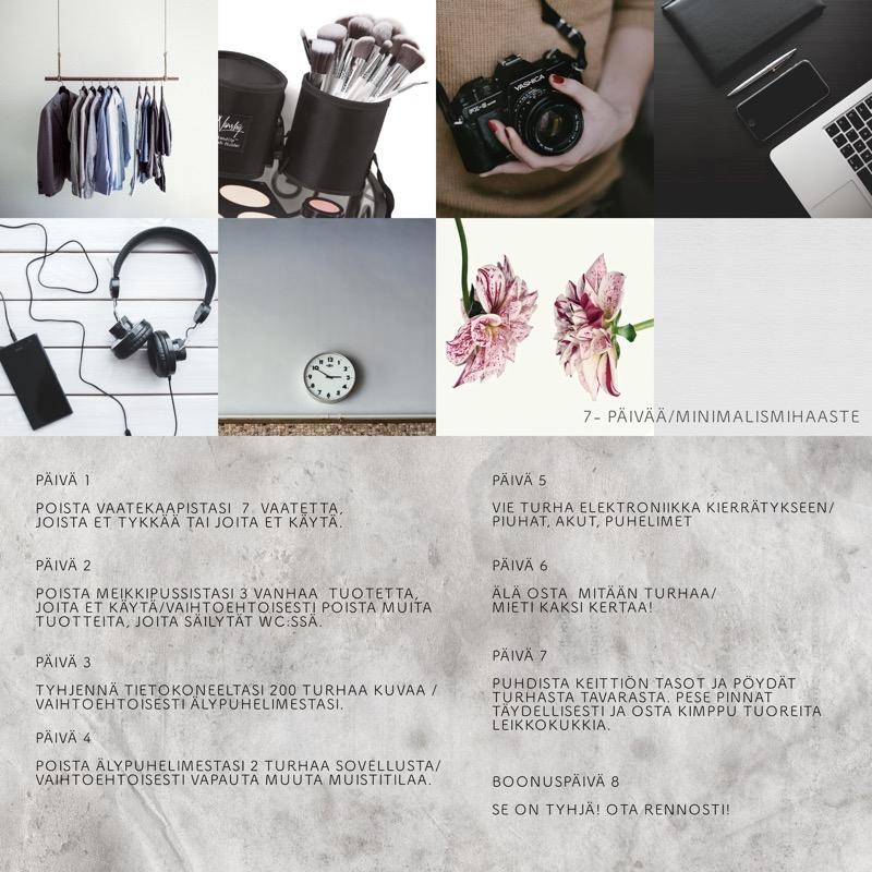 minimalistinen kuvakollaasi