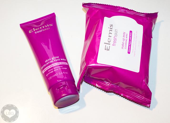 Elemis Freshskin Skin Glow Exfoliating Face Wash and Elemis Freshskin Make-Up Away Cleansing Wipes