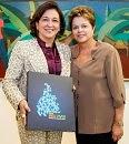 Kátia Abreu & Dilma Rousseff, March 2013.