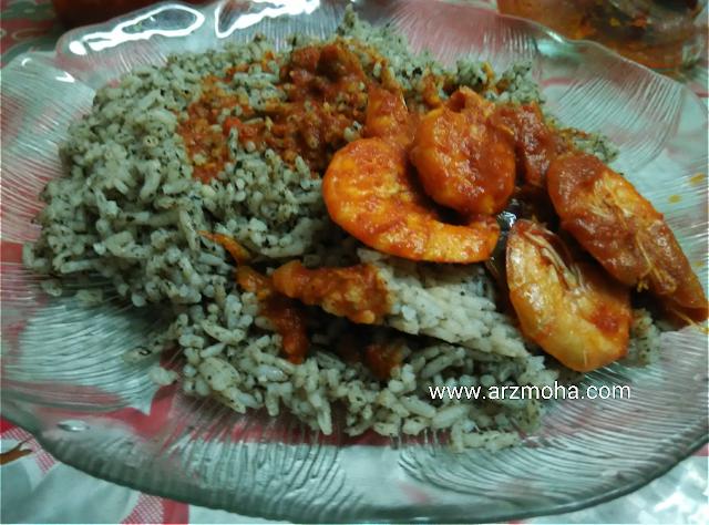 Nasi Lemuni Sambal Udang, Nasi Sambal Udang, Sambal Udang, Makanan utara, makanan rakyat malaysia, best food in penang,