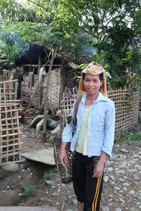 A Thai ethnic woman in Mường Tè