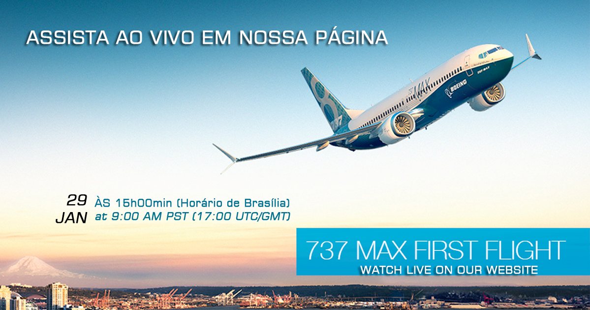 Boeing 737 MAX - First Flight | Watch live on our website