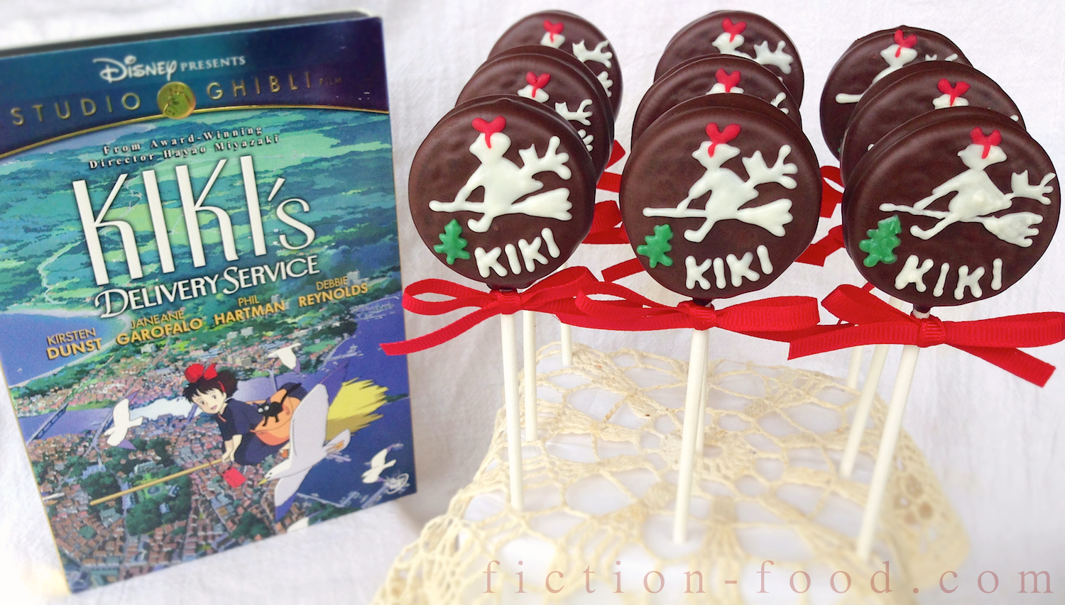 FictionFood Caf Kikis Cake Cookie Pops for Kikis Delivery
