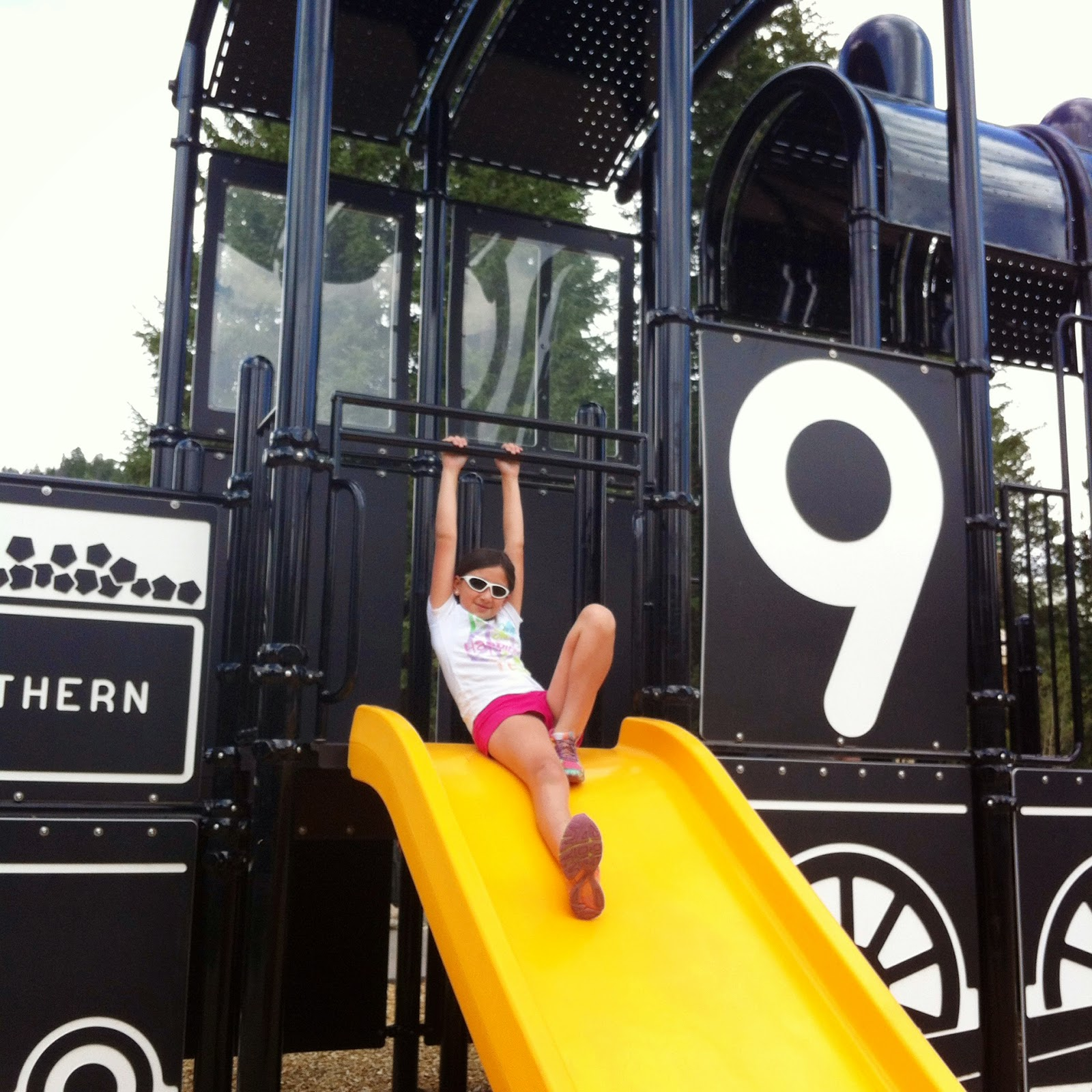Train playground in Breckenridge