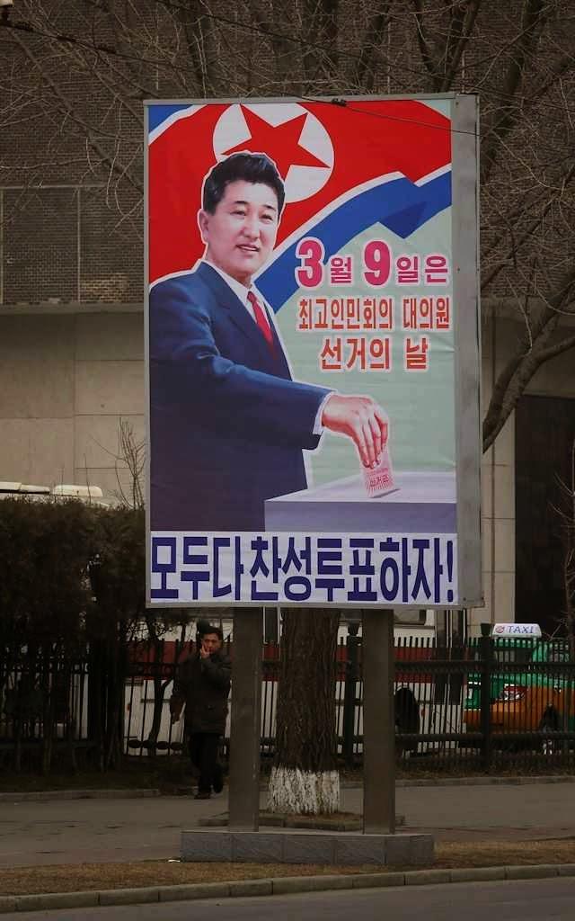"""Nas eleições da Coreia do Norte: ou sim ou """"inexiste"""""""