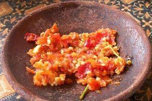 Resep membuat Sambal Bawang Mentah Pedas