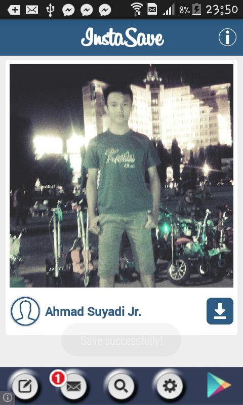 Cara membuka foto instagram yang di simpan via Android