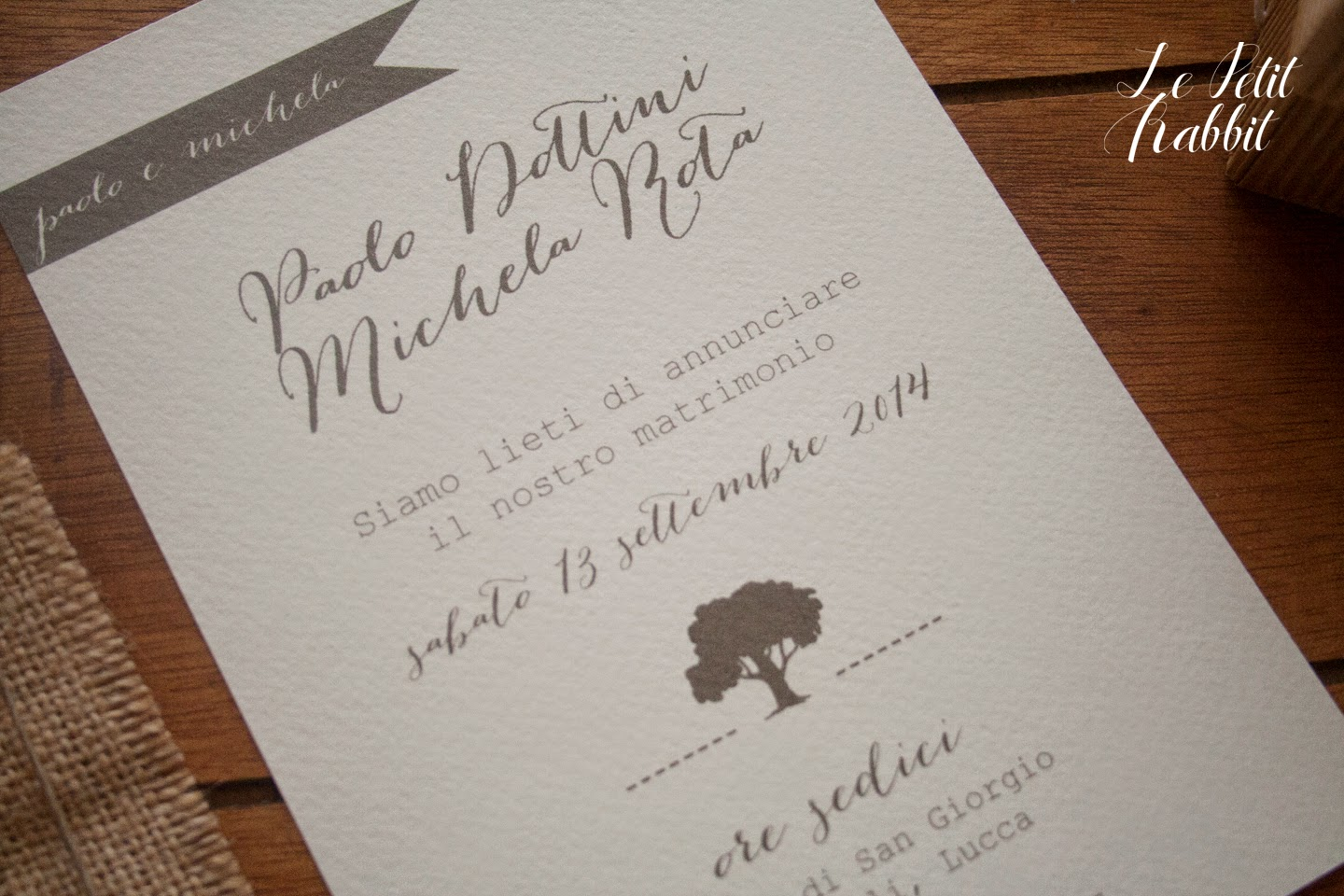 Preferenza WEDDING ] Partecipazioni Country Chic WC59
