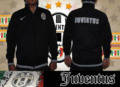 Jual Jaket Juventus Black White