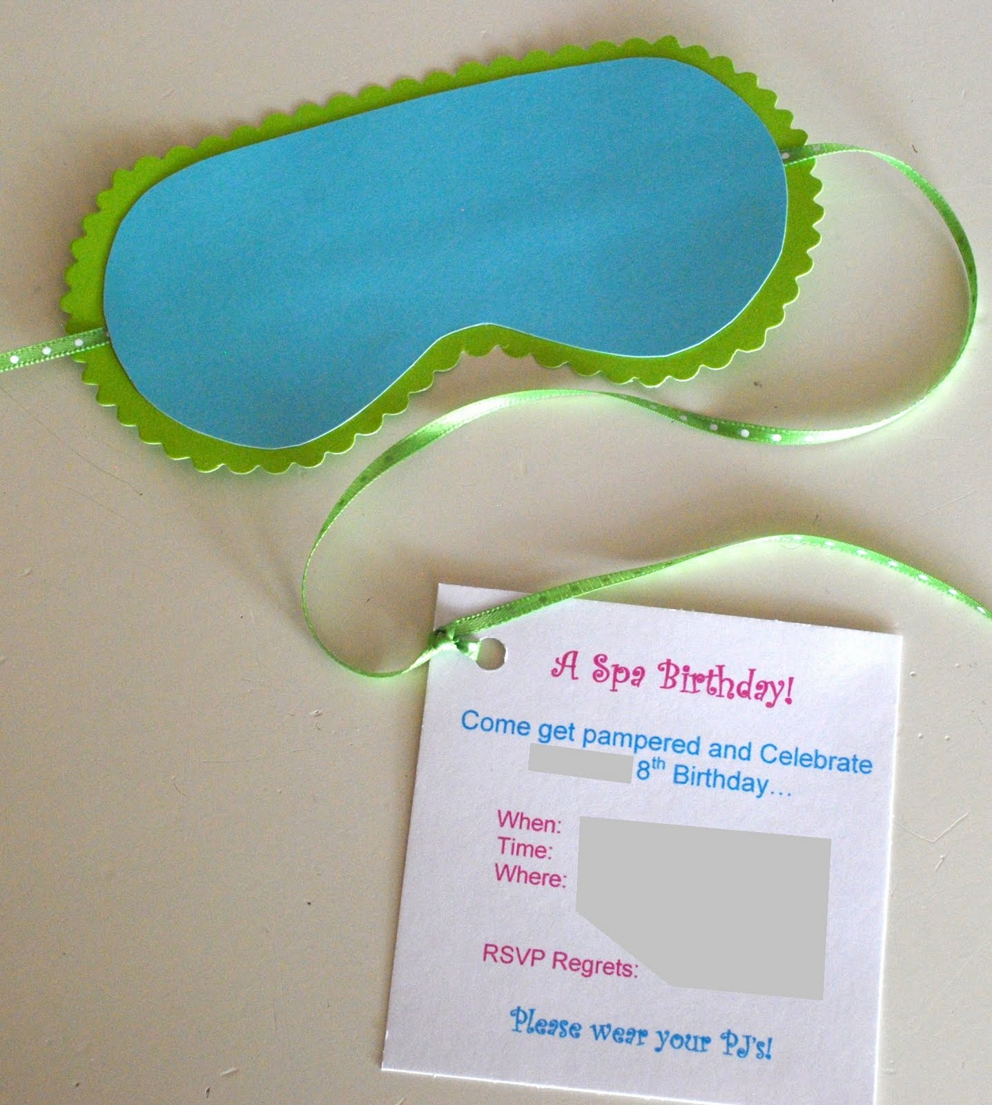 17 Best images about Spa Birthday Party – Spa Party Invitation Ideas