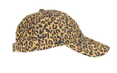 Asos Pieces Greta Leopard Print Baseball Cap