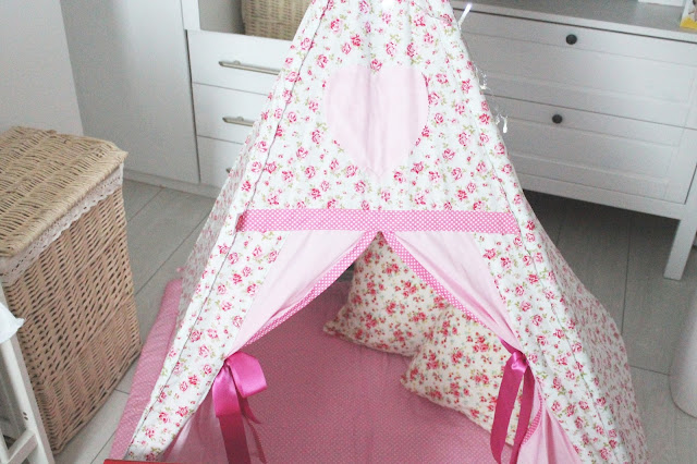 pink floral tepee shabby chic vintage from just for tiny people
