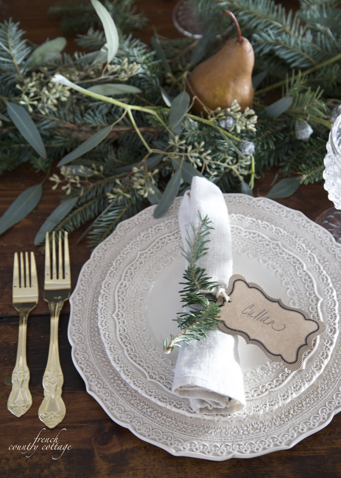 Courtney at french country cottage decorated the kitchen - French Country Cottage Christmas Home Holiday Decorating