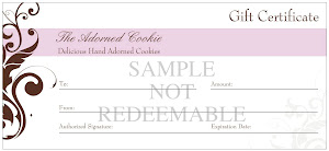 Adorned Cookie Gift Certificates