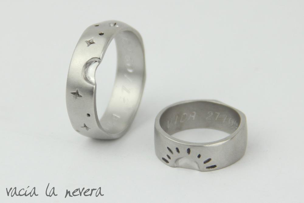 imagenes de anillos de oro blanco - Anillos Compromiso Oro Blanco Anillos de Compromiso