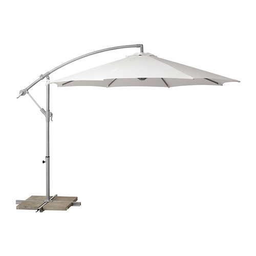 copy cat chic cb2 eclipse white outdoor umbrella. Black Bedroom Furniture Sets. Home Design Ideas